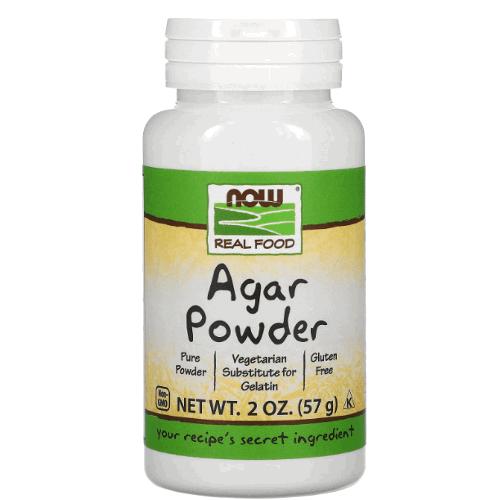 Agar powder in plastic bottle
