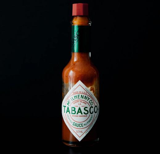 Bottled Tabasco hot pepper sauce