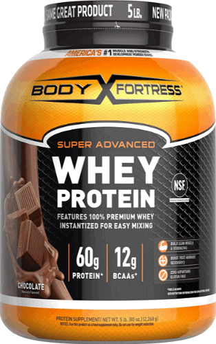 Body Fortress Super Advanced Whey protein powder product