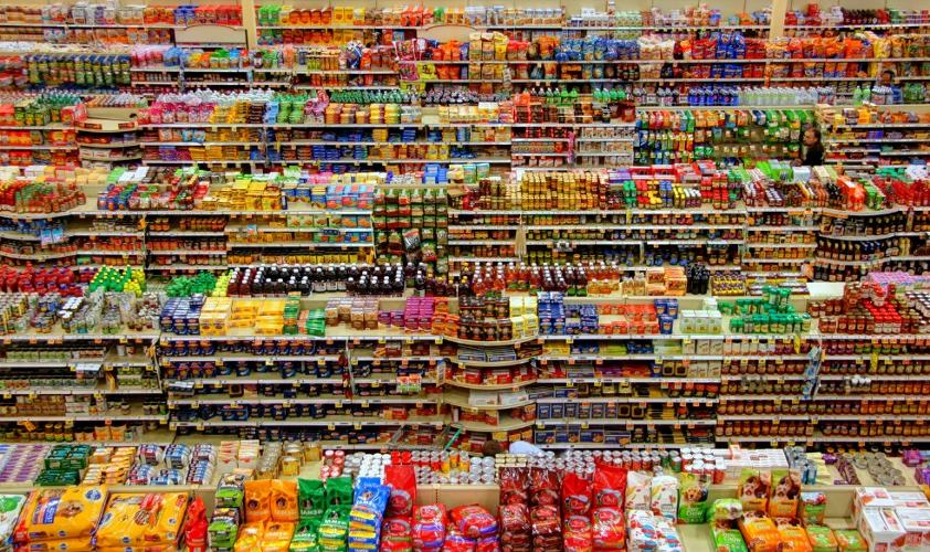 Grocery store food items