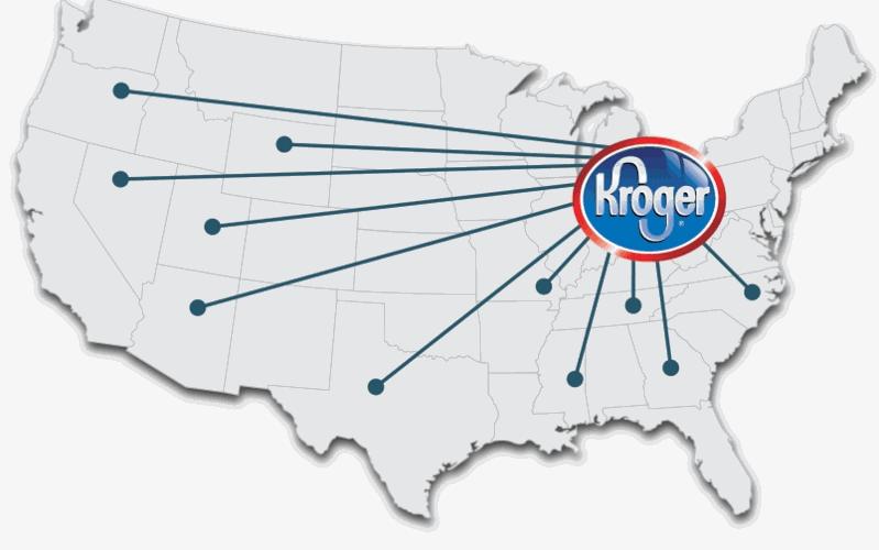 Kroger store map illustration