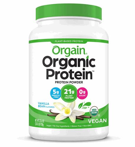 Orgain organic plant based protein powder product