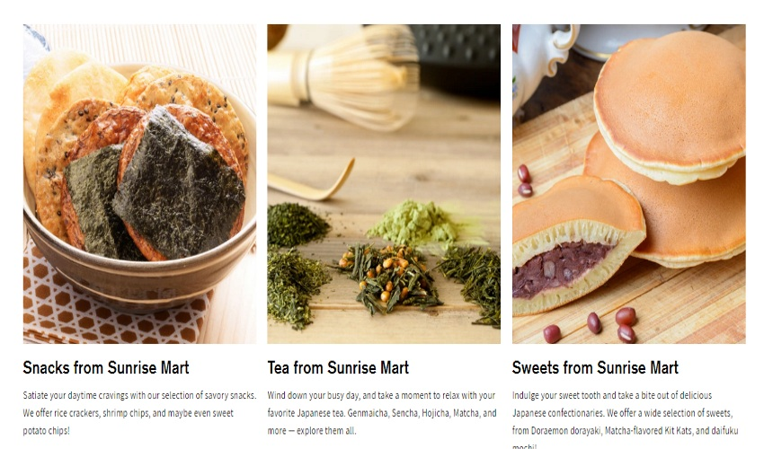 Sunrise Mart grocery store website