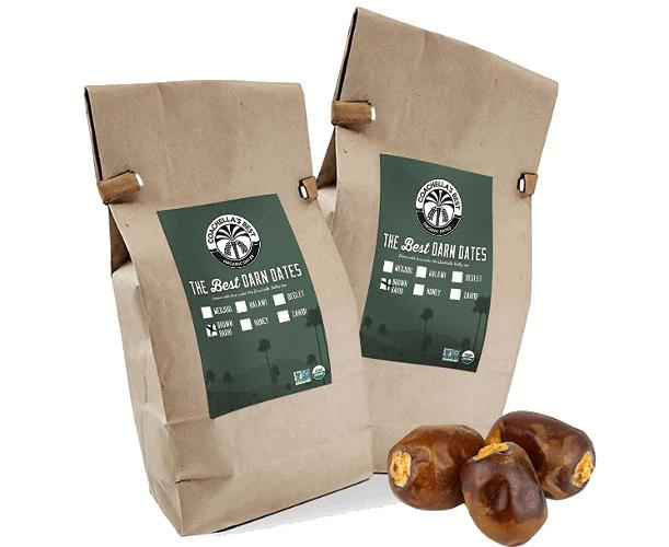 Two pack organic Barhi dates product on Amazon