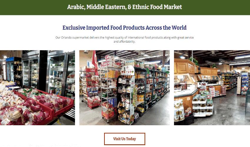 International Food Club website homepage