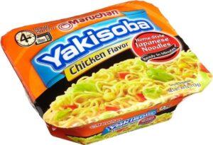 Maruchanyakisoba chicken noodles product