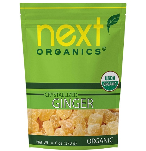 Next Organics dried crystallized ginger product