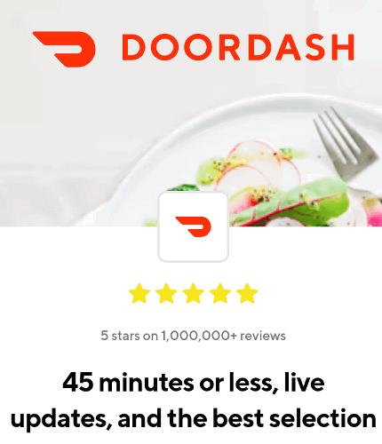 DoorDash food delivery service