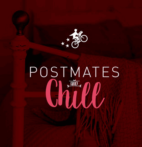 Postmates and chill poster